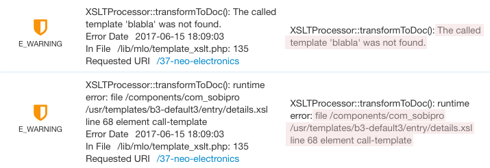 Xsl vs php xsl error in sobipro error log screenshot pronofoot35fo Images