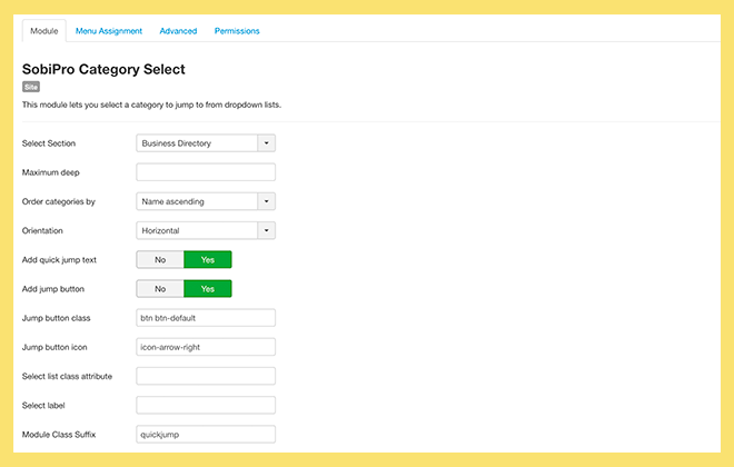 Category Select Module