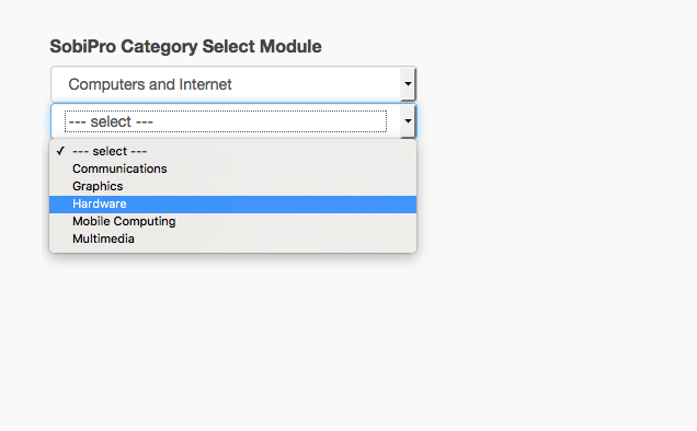 Category Select Module