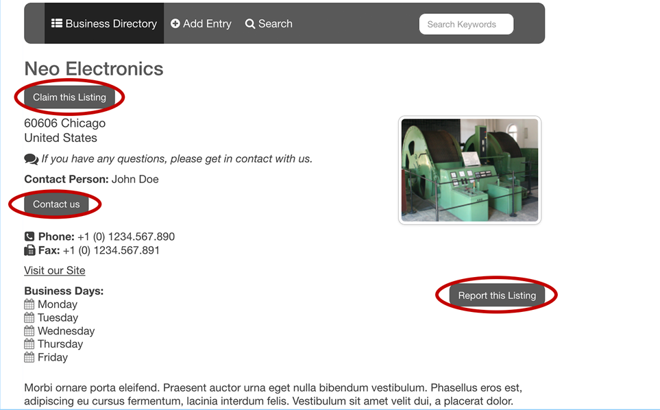 Contact Form Field for SobiPro component - different contact buttons in details view