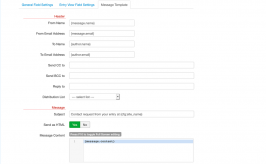 Contact Form Field for SobiPro component - email template settings