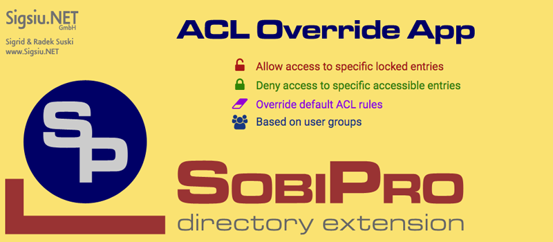 ACL Override Application for SobiPro component screenshot