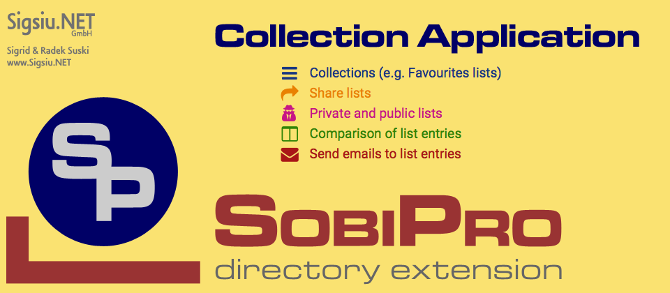 Collection Application for SobiPro component screenshot