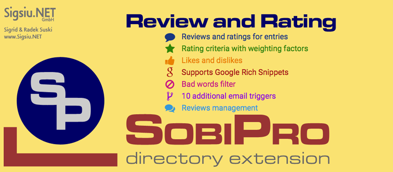 Review and Rating Application for SobiPro component screenshot