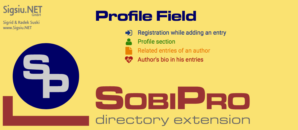 Profile Field for SobiPro component screenshot