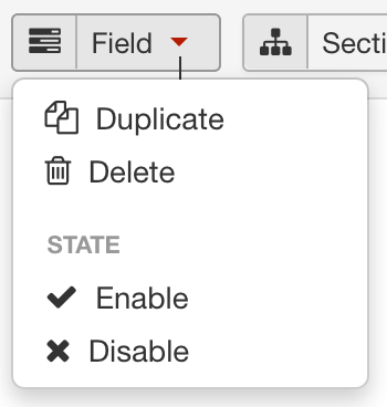 Fields Manager - Field Actions screenshot