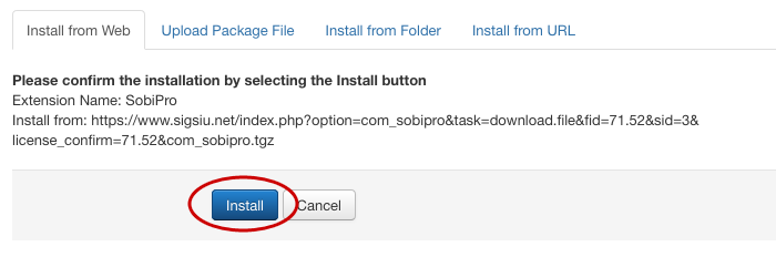 SobiPro details page on Joomla Extensions Directory screenshot