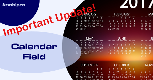 Important Update of Calendar Field!