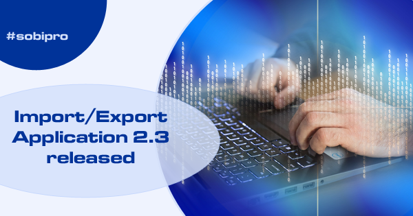 New version of Import/Export Application released