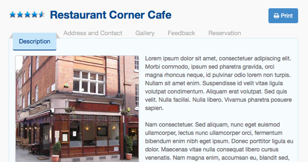 SobiRestara 3.0 - The new shiny Restaurant Guide template