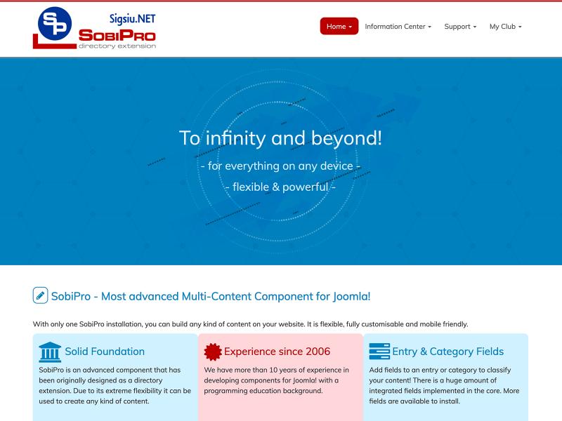 SobiPro Showcase: SobiPro Site