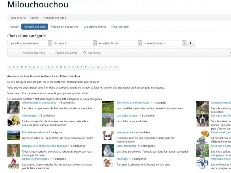 SobiPro Showcase: Milou mon Chouchou, mon ami