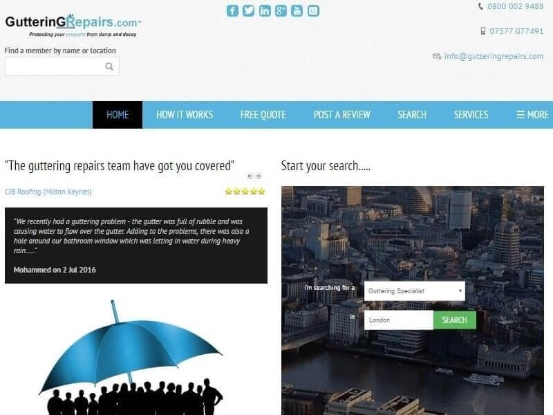 SobiPro Showcase: Guttering Repairs Ltd