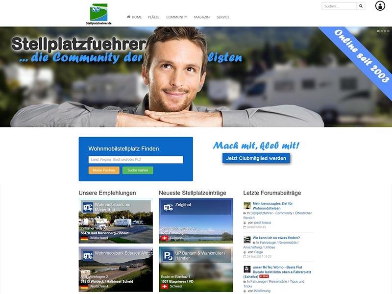 SobiPro Showcase: Camping guide - Stellplatzfuehrer.de