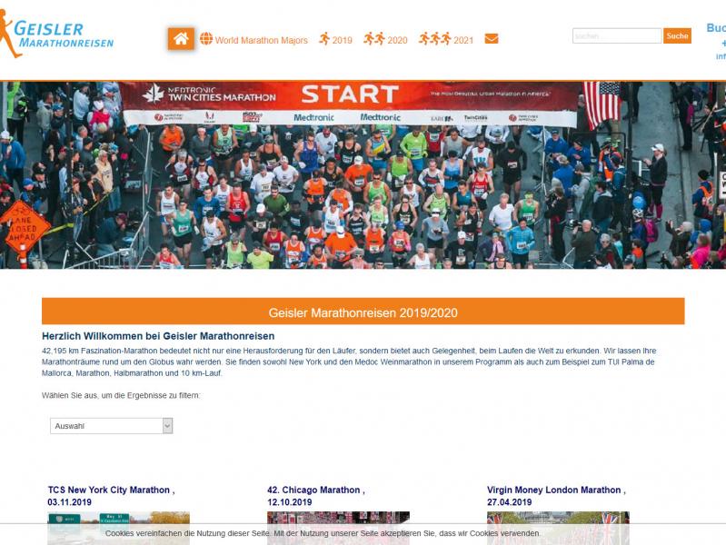 SobiPro Showcase: Geisler Marathonreisen