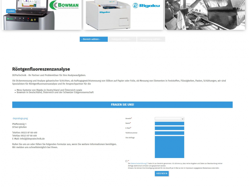 SobiPro Showcase: DEPraTechnik GmbH & Co. KG